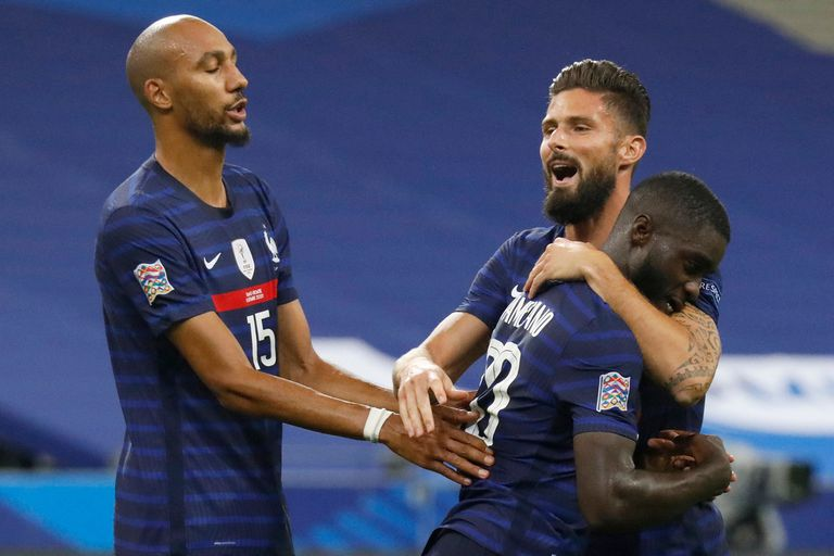 Dayot Upamecano fue autor del tercer gol de Francia en el triunfo frente a Croacia, por 4 a 2