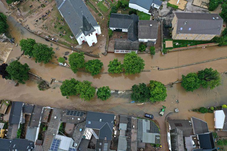 Imagen de Iversheim, en el oeste de Alemania (Photo by INA FASSBENDER / AFP)