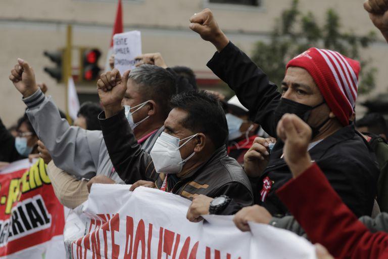 Seguidores de Pedro Castillo en Lima