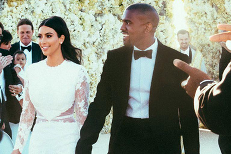 Kim y Kanye tuvieron una fastuosa boda