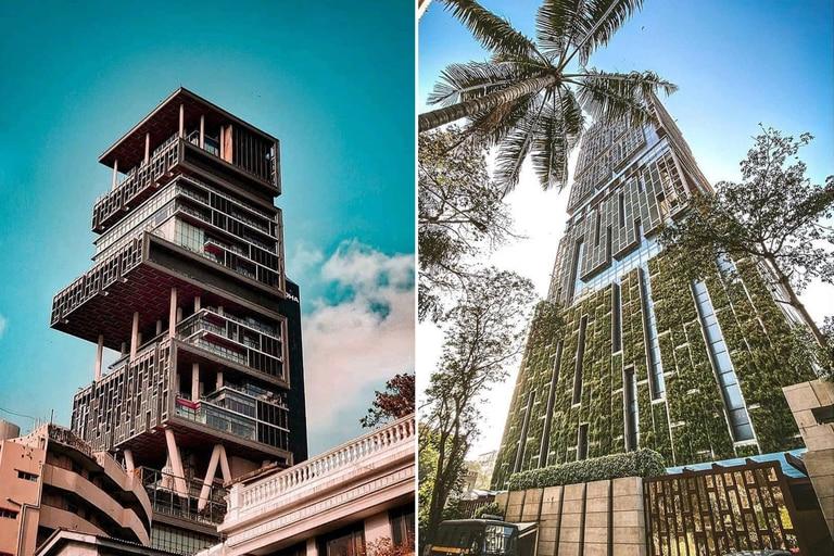 El edificio es un emblema en Mumbai y fue construido especialmente para uno de los empresarios más ricos de India