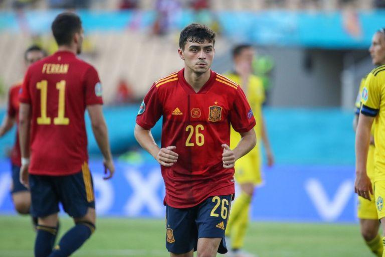 Pedri, de Barcelona, se convirtió en el futbolista más joven en debutar en la selección española en la Eurocopa, con 18 años y 201 días