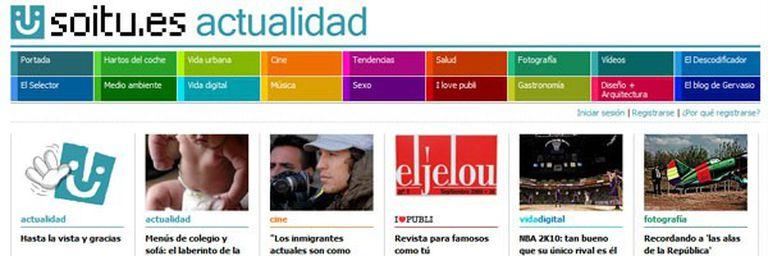 La despedida de Soitu.es, desde su portal web