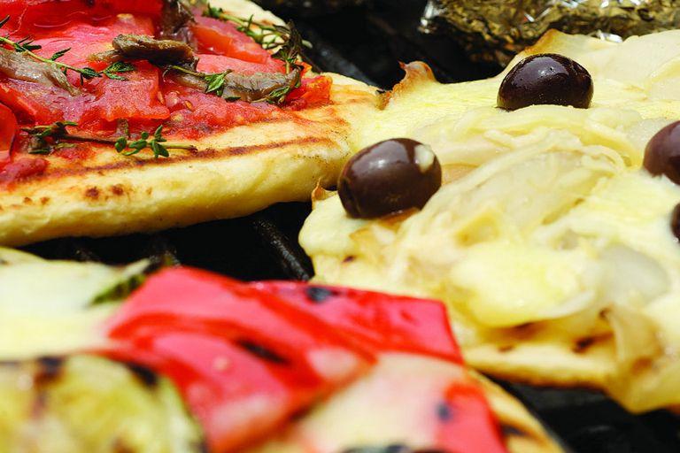 Pizzas a la parrilla