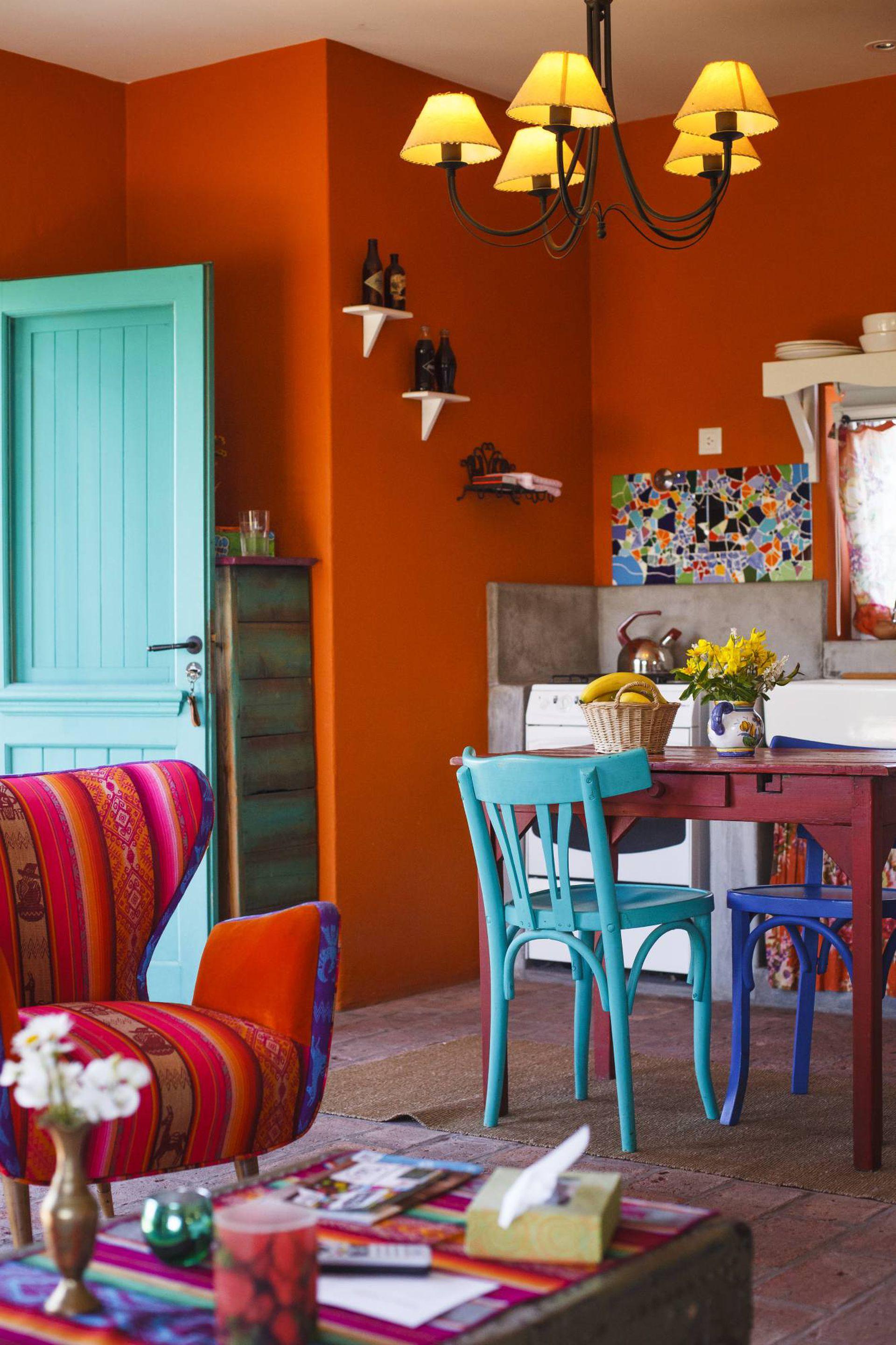 El colorido espíritu del Santa Fe Style se percibe en cada rincón de Chacra Bliss.