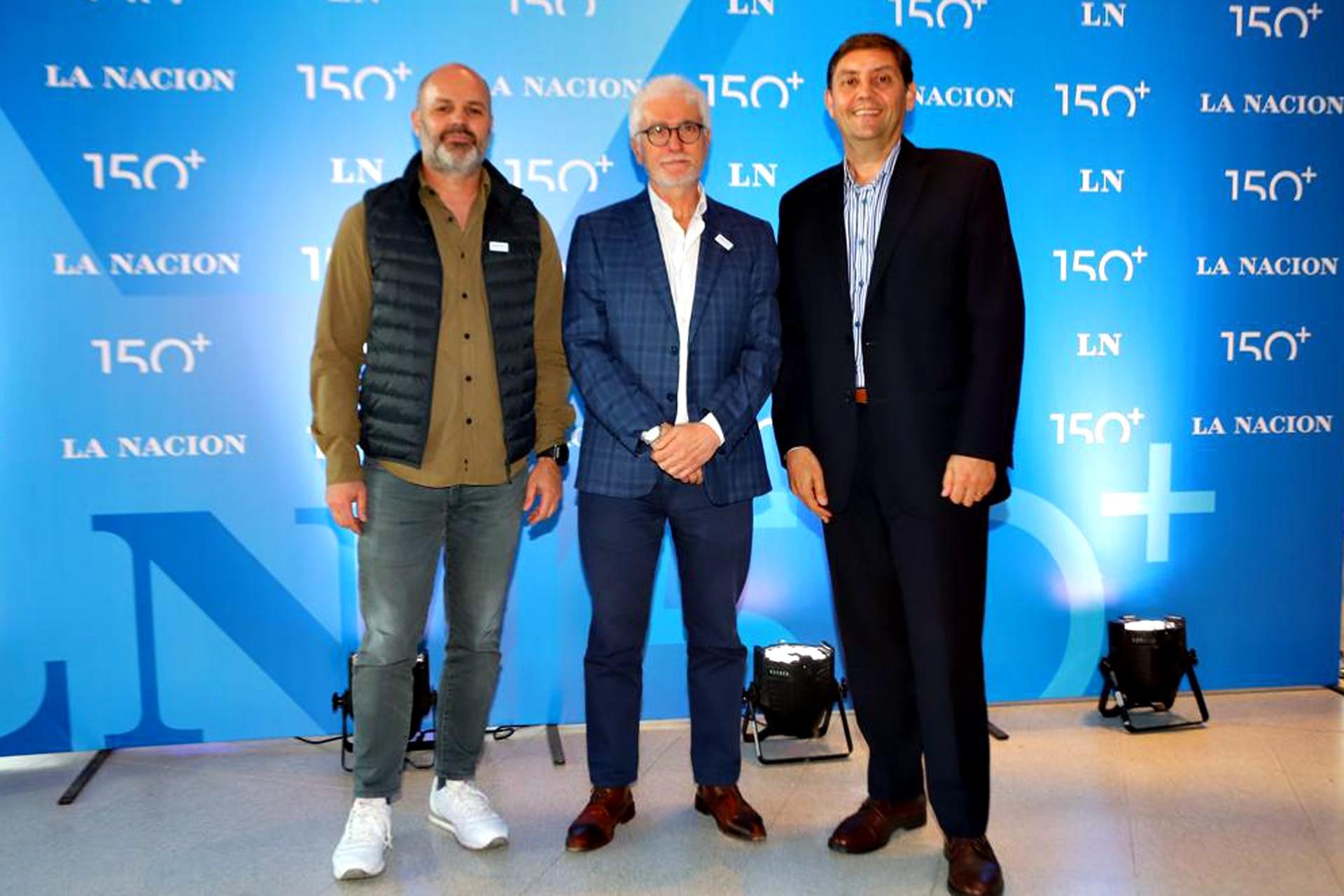 Germán Gómez Picasso y José Rozados de Reporte Inmobiliario junto a Mario Gómez de Le Bleu