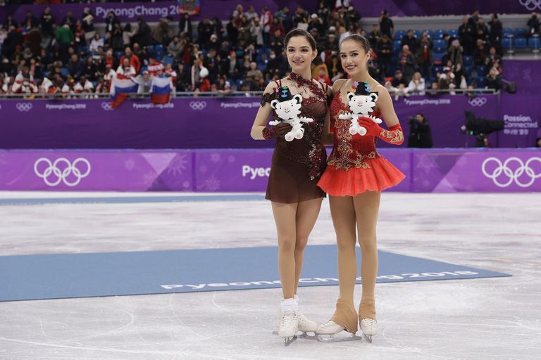Las dos amigas tras la ceremonia de premiación