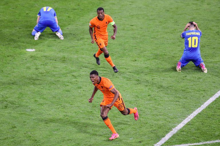 Holanda había arrancado para golear y sufrió, pero le ganó a Ucrania sobre el final 3 a 2