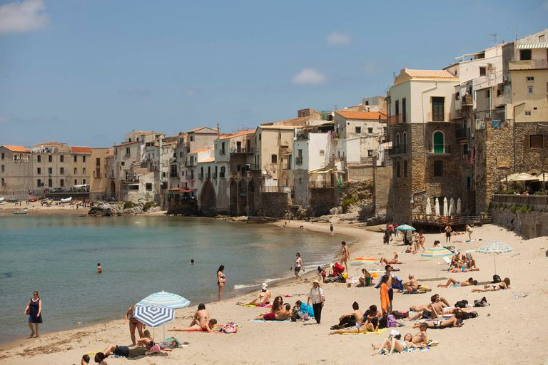 La playa de Noto, en Sicilia