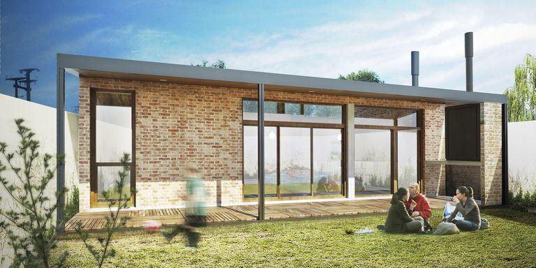 Uno de los modelos de vivienda de hasta 60 m2 que se proponen para los créditos Casa Propia