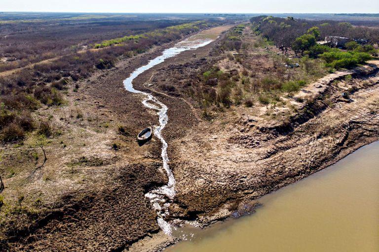 La zona de humedales entre Rosario y Victoria, afectada por la bajante en el río Paraná