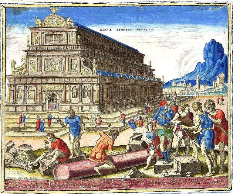 """El templo de Diana en Éfeso (de la serie """"Las ocho maravillas del mundo"""") de Maarten van Heemskerck, 1572."""