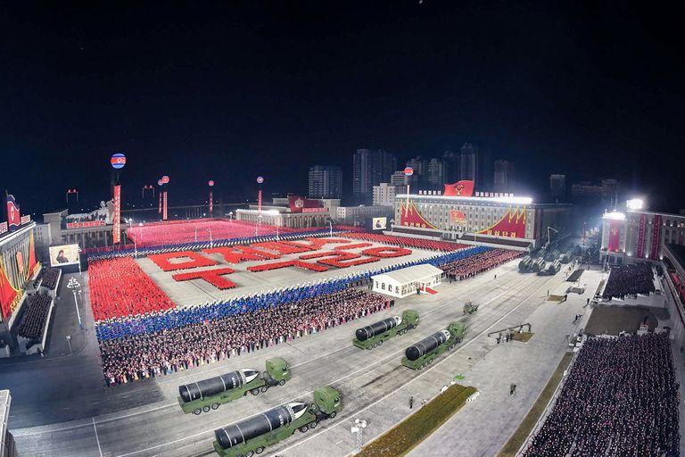 El impotente desfile tuvo lugar en Pyongyang