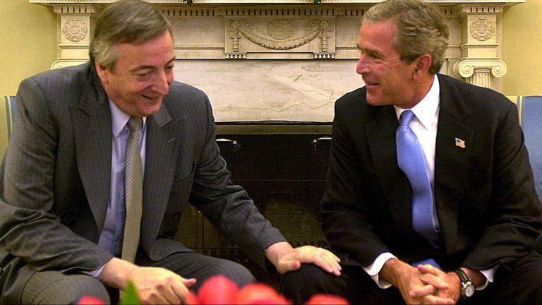Kirchner y Bush en marzo de 2005