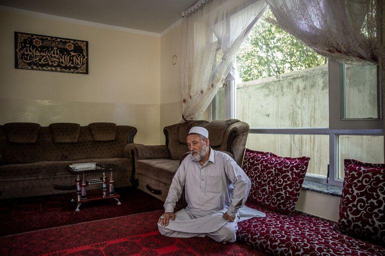 Haji Sakhi en su casa de Kabul.