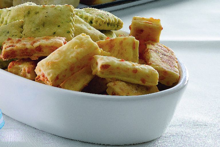 Galletitas saladas de masa brisée