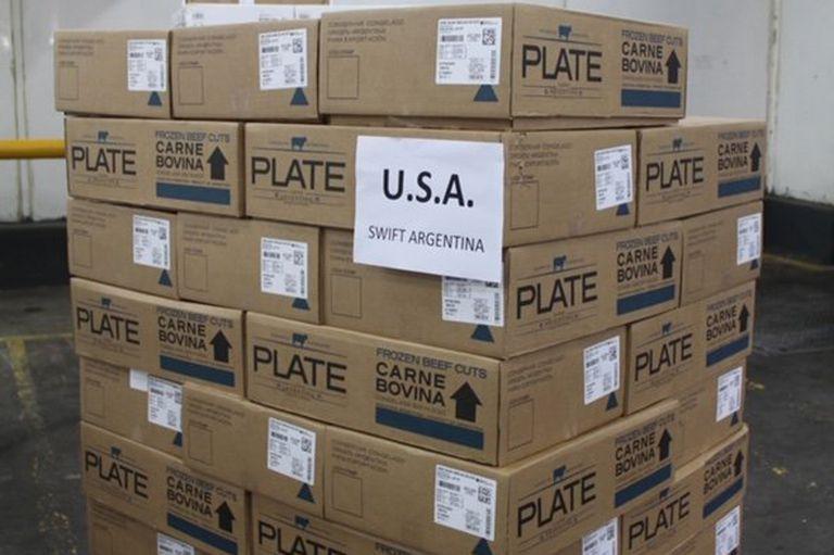 La carga con los 500 kilos enviados al mercado de EE.UU.