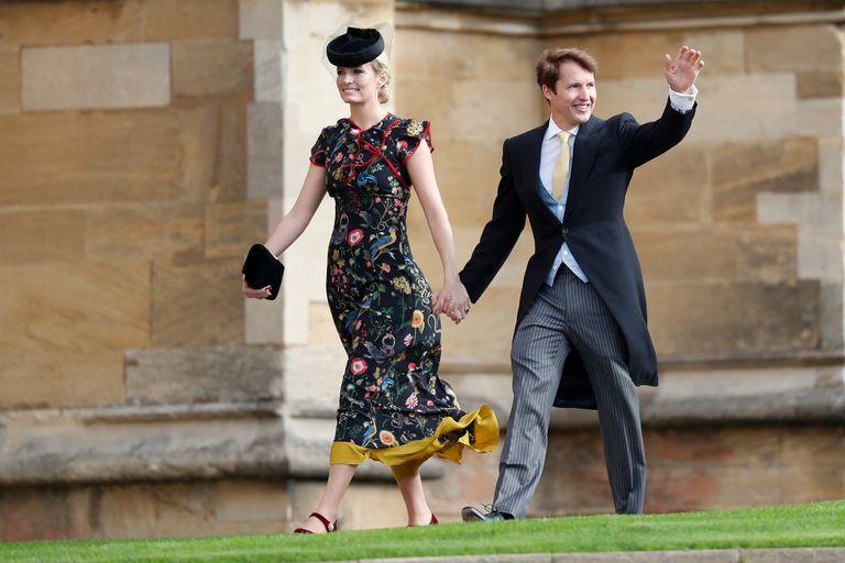 James Blunt llegó con su mujer, Sofia Wellesley