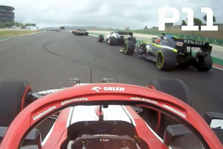 La secuencia de Kimi Raikkonen, uno de los momentos más emocionantes de la carrera de Fórmula 1 en el GP de Portugal