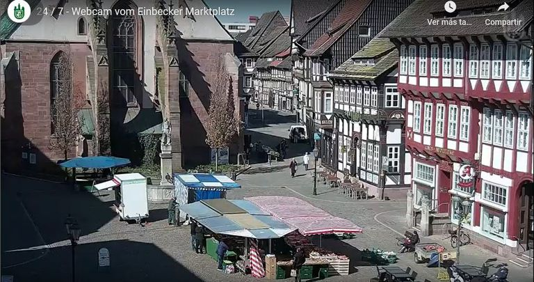 El mercado de Einbeck, en Sajonia, Alemania