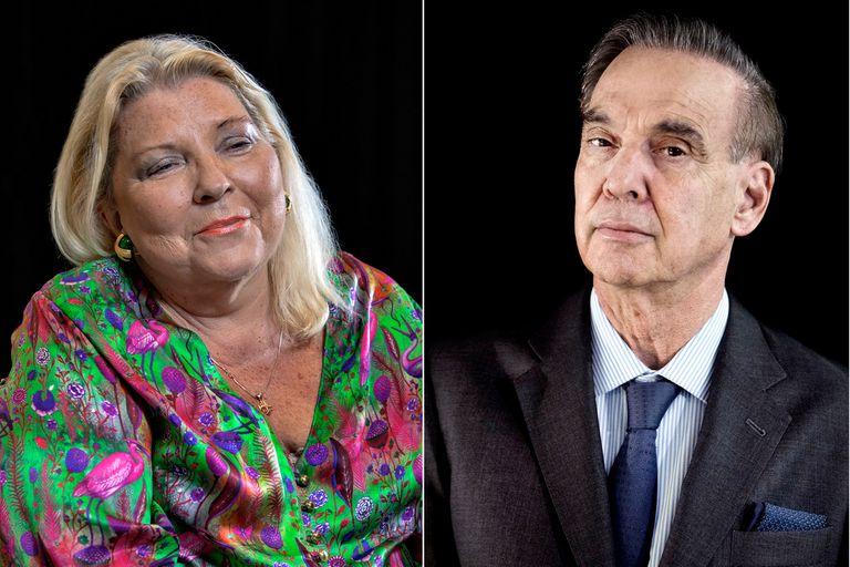 Elisa Carrió y Miguel Pichetto