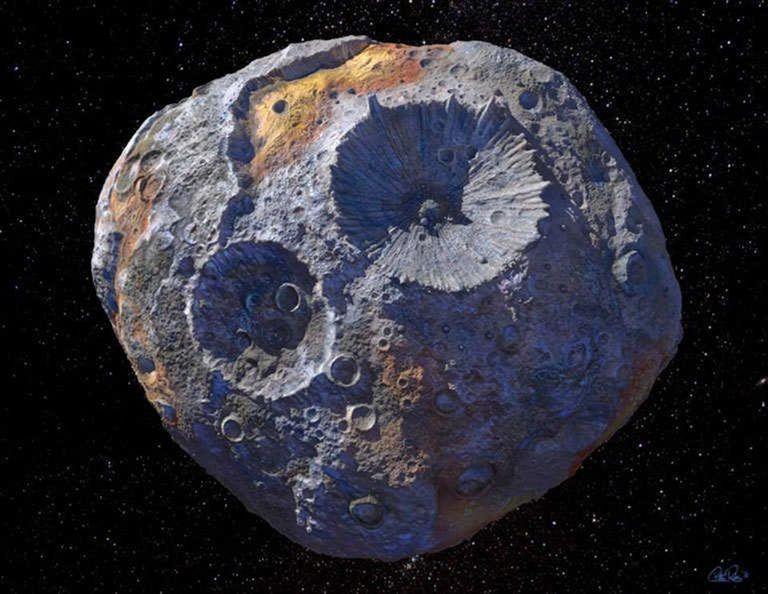 Una nueva investigación sugiere que el asteroide podría no ser tan metálico o denso como se pensaba