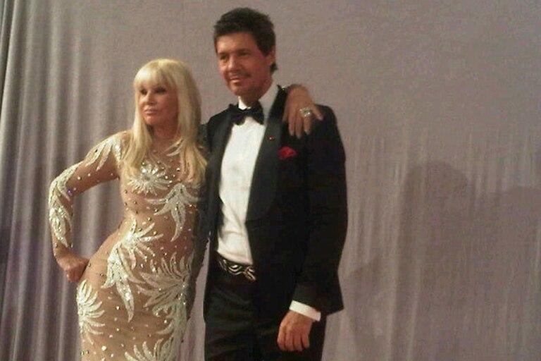 Susana y Tinelli, en una foto de backstage