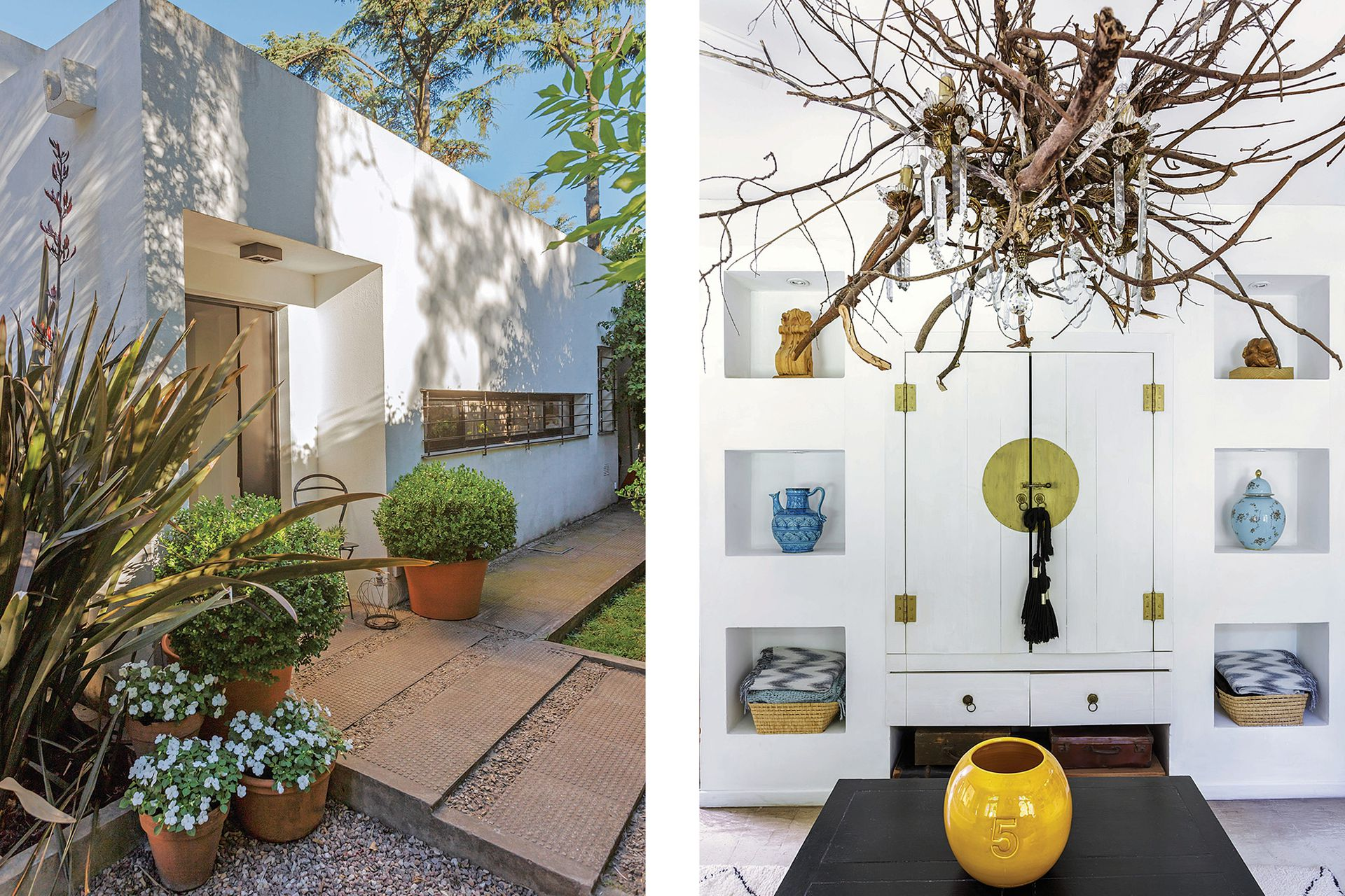 Sensación de descanso en una blanca morada del Mediterráneo es lo que busca transmitir el interiorismo de esta casa.