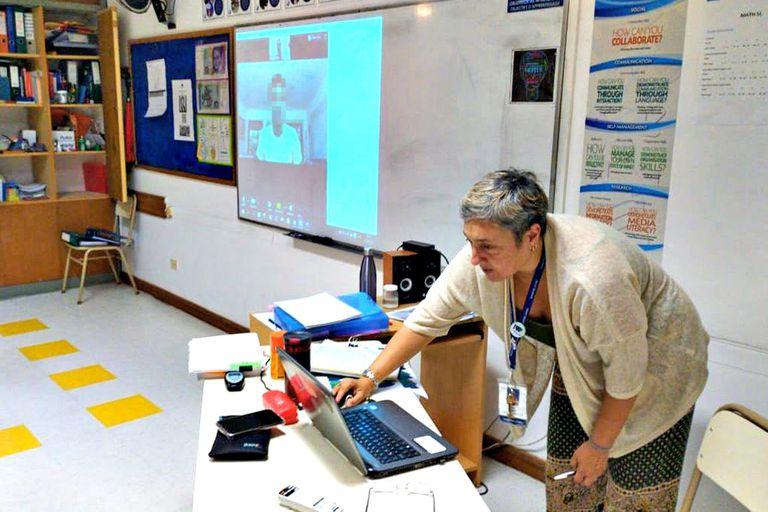 Una clase virtual en el Colegio Northlands