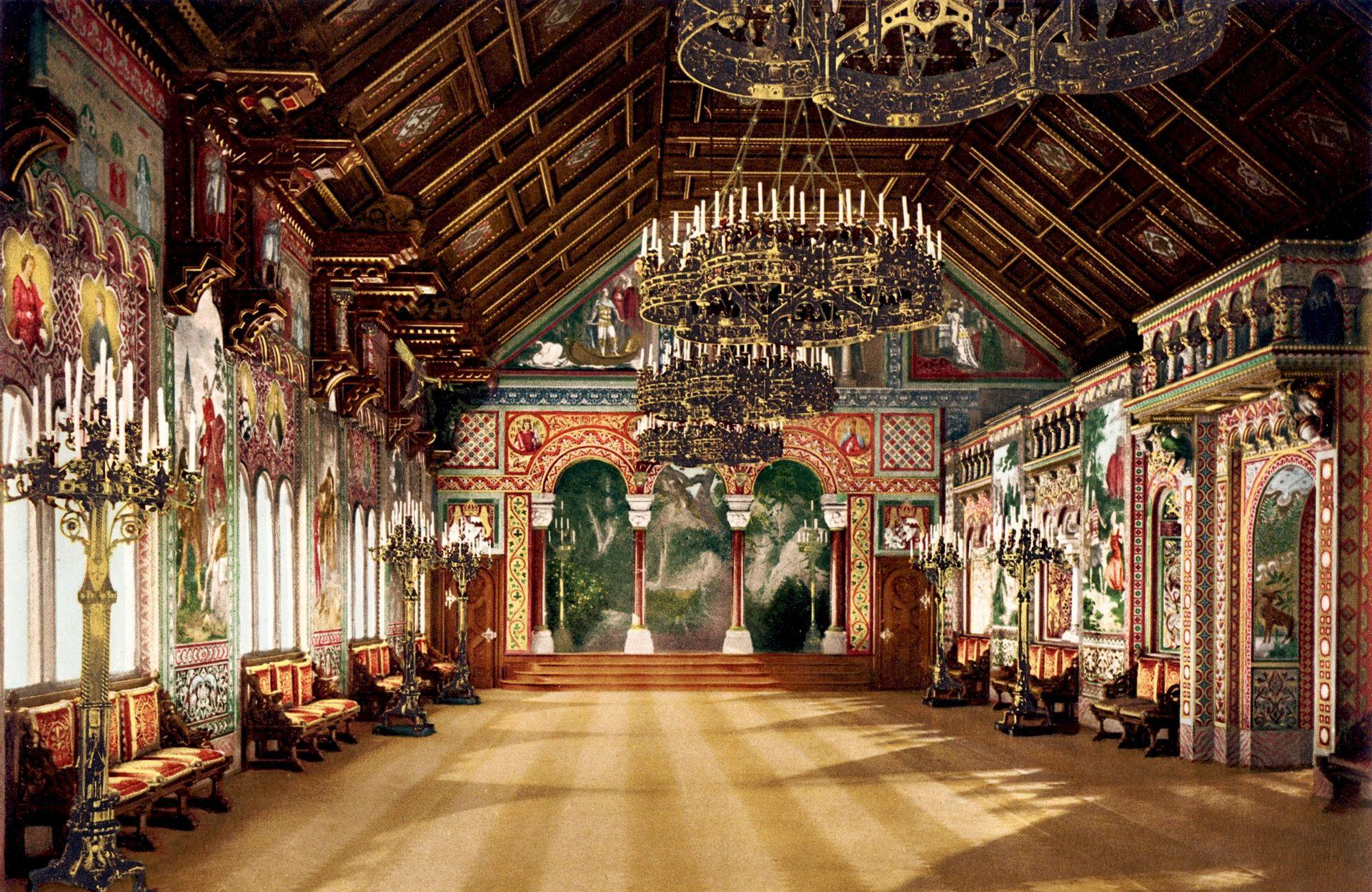 La sala de cantores de Neuschwanstein.