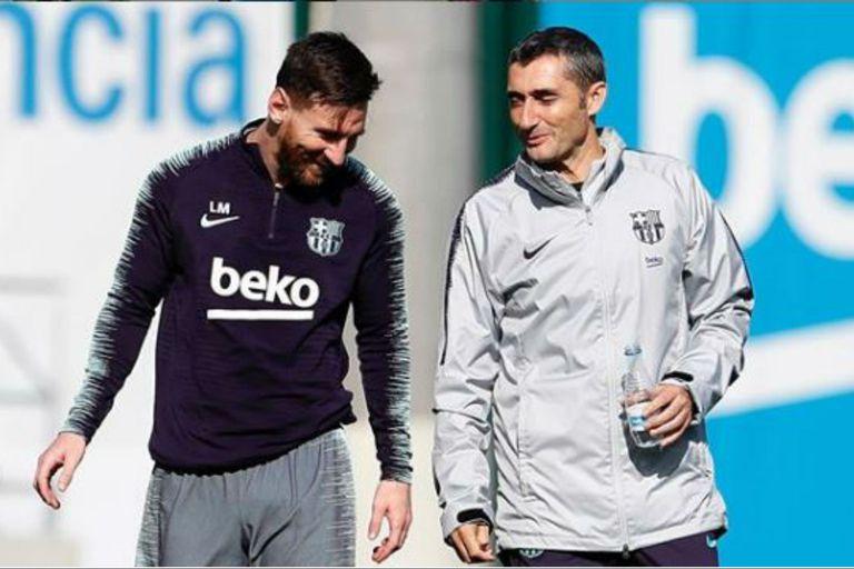 Redes: el mensaje de Messi para Valverde tras la salida del DT de Barcelona