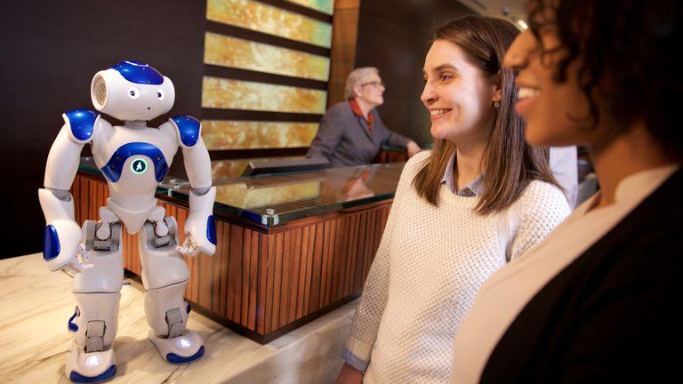 Nao, una plataforma de robots de Aldebaran Robotics. Las principales compañías tecnológicas buscan unir esfuerzos para impulsar el desarrollo de la inteligencia artifical con el acuerdo Partnership on AI
