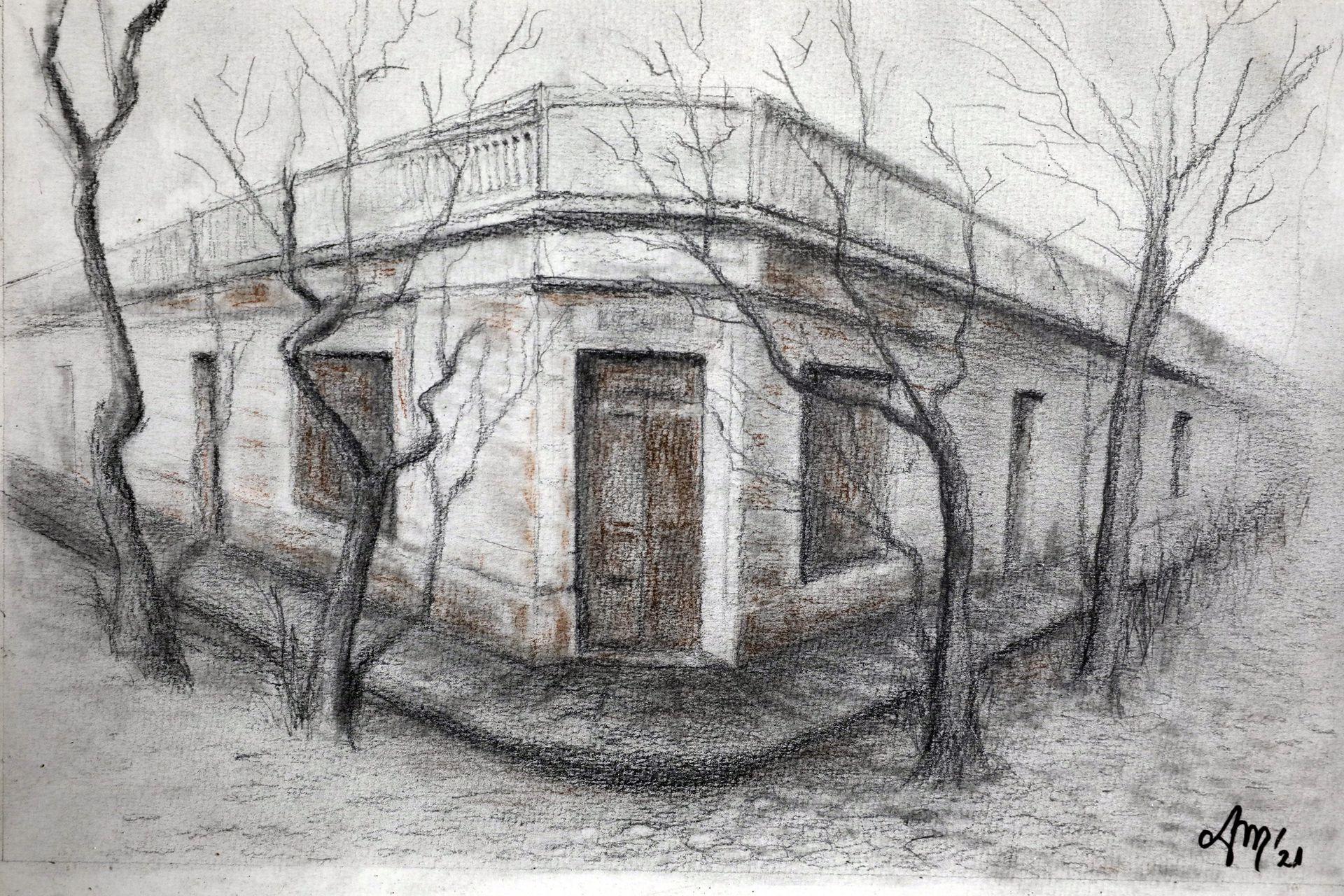 Una pintura en Los Laureles reproduce la esquina de Iriarte y Goncalves Días donde funciona el reducto tanguero