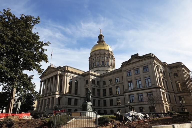 El Capitolio del Estado de Georgia se ve el 6 de enero de 2021 en Atlanta, Georgia