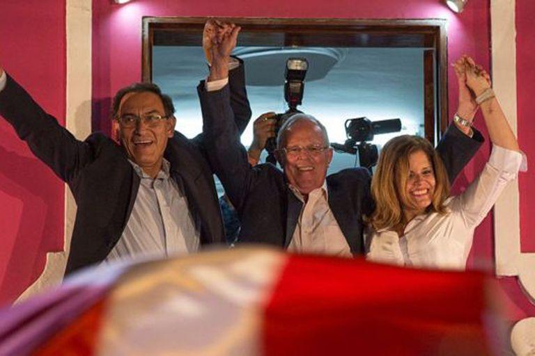 Vizcarra y Aráoz fueron las manos derechas de Kuzcynski durante la campaña electoral en 2016 y el posterior bienio presidencial