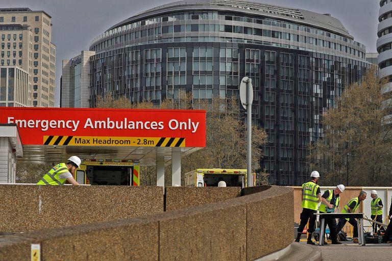 Hospital St Thomas donde se encuentra internado Boris Johnson
