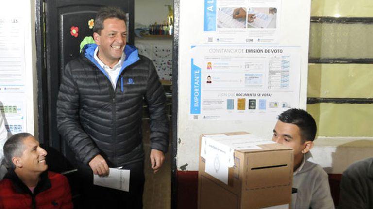 Massa votó en Tigre