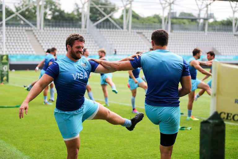 Julián Montoya sonriente; el hooker está ante el primer partido como capitán de los Pumas.