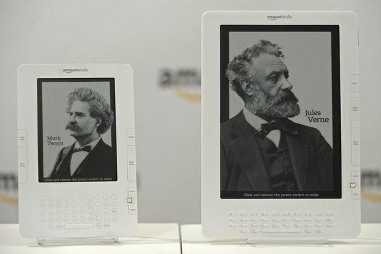 La presentación del lector de libros electrónicos Kindle de Amazon, en mayo de 2009