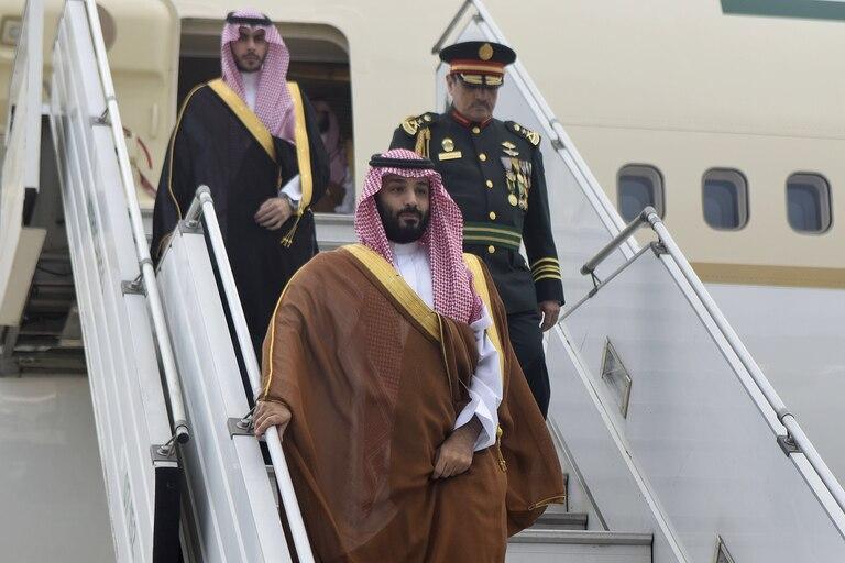 Mohammed ben Salman fue el primer líder que participará en la cumbre en llegar a la Argentina