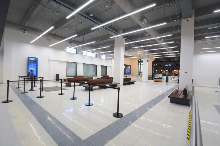 Constitución: Inauguran sala de espera para larga distancia