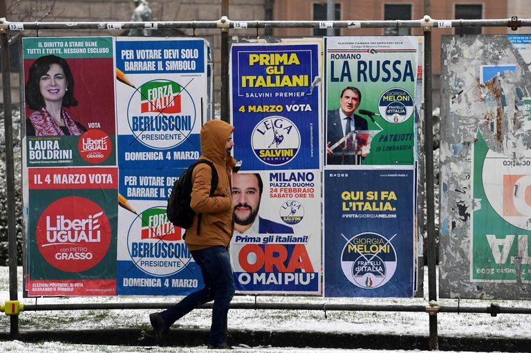 Elecciones en Italia: fuerte avance de la extrema derecha y grupos antisistema