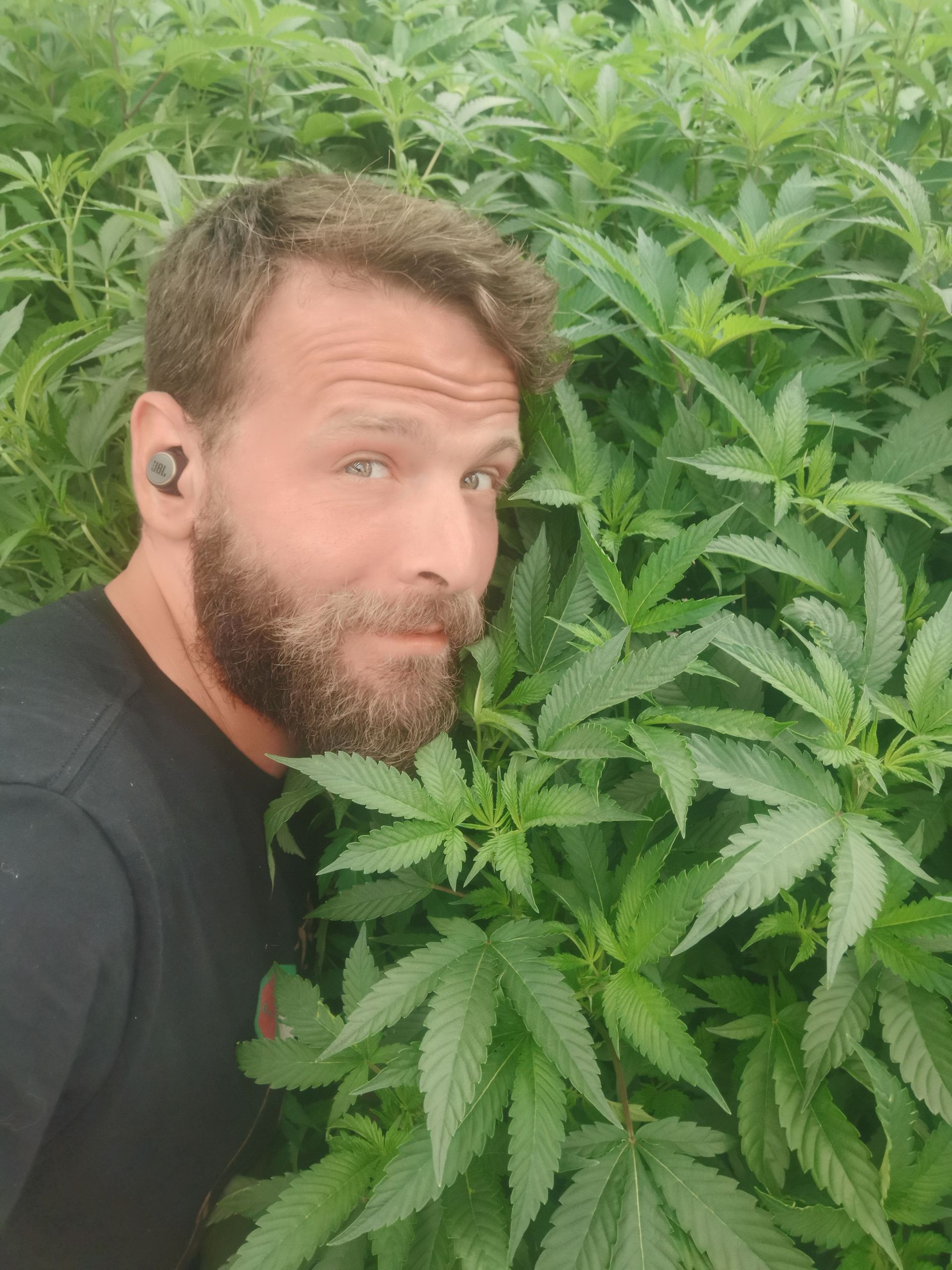 Matías Litvak , el argentino que trabaja como cultivador profesional de cannabis en Israel.