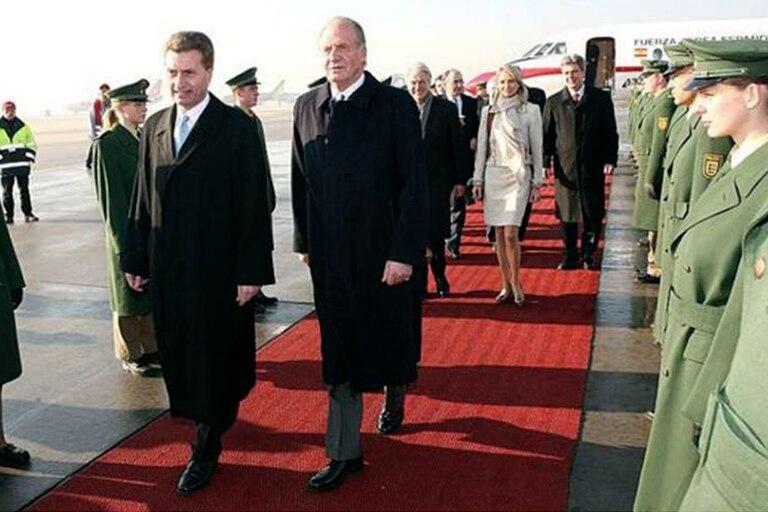 El rey Juan Carlos y Corinna zu Sayn-Wittgenstein en un viaje a Alemania en 2006
