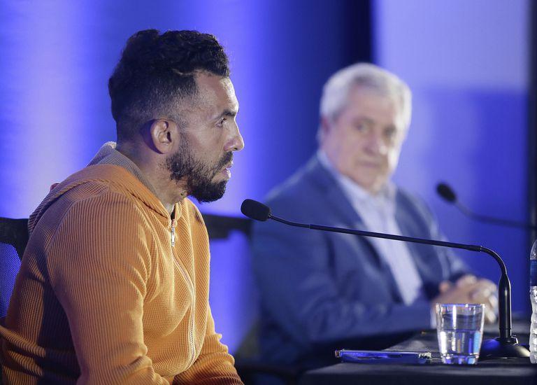 Conferencia de prensa de Carlos Tevez, el 4 de junio de 2021, cuando anunció que se iba de Boca
