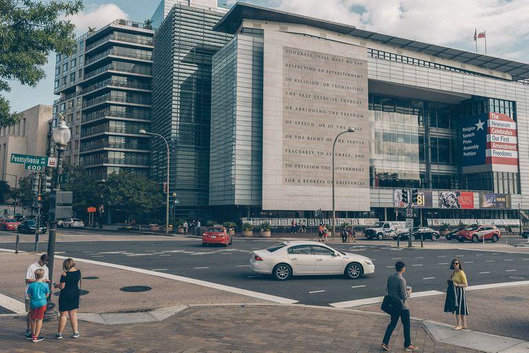"""El edificio de Pennsylvannia Avenue, la """"calle principal de los Estados Unidos"""", según los políticos de ese país"""