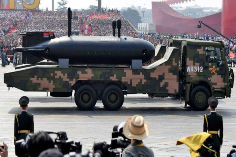 Durante una marcha militar en China, se pudo ver el gran UUV HSU001
