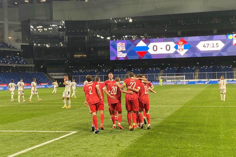 Rusia derrotó 3 a 1 a Serbia en su presentación en en la UEFA Nations League
