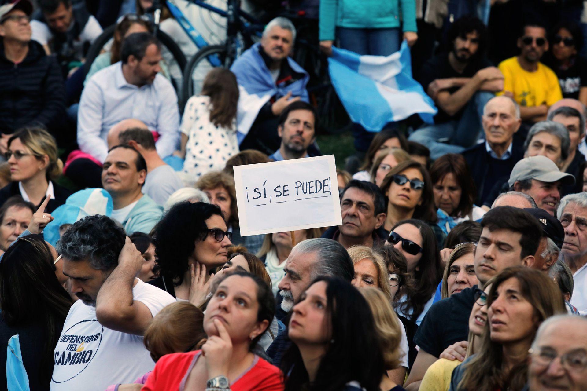 """""""Sí se puede"""" fue el eslogan de la marcha"""