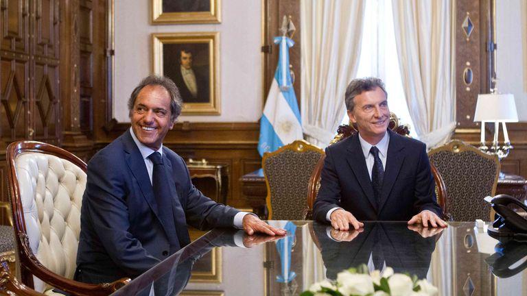 Se especula que el ex candidato presidencial por el FPV, Daniel Scioli, podría acompañarlo